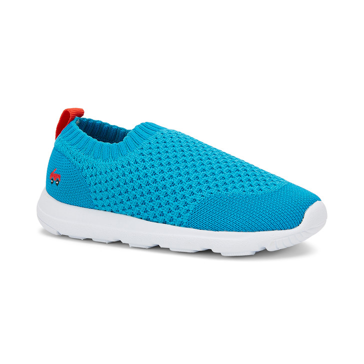 Front-Right Side view of the Ryder Knit FlexiRun Teal shoe