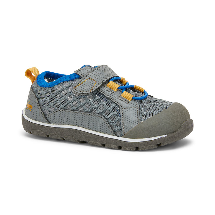 Front-Right Side view of the Anker Gray/Blue shoe