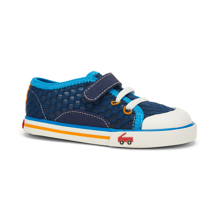 Front-Right Side view of Saylor Navy/Blue shoe