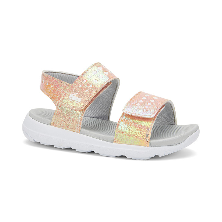 Front-Right Side view of the Billie FlexiRun Rose Gold sandal