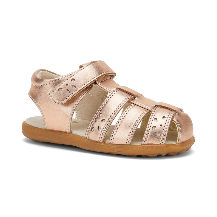 Front-Right Side view of Gloria Rose Gold sandal