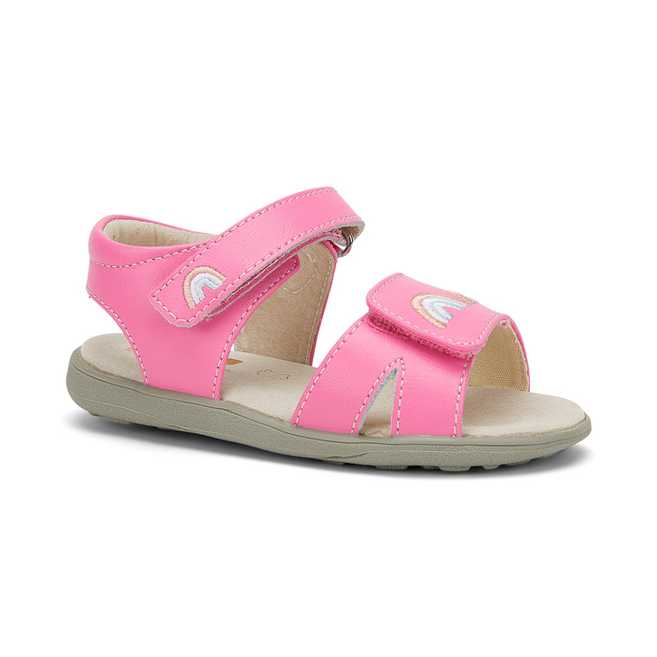 Front-Right Side view of Olivia Rainbows sandal