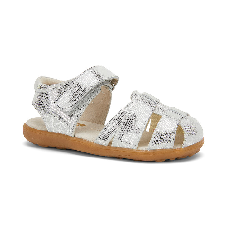 Front-Right Side view of Kaisa Silver sandal