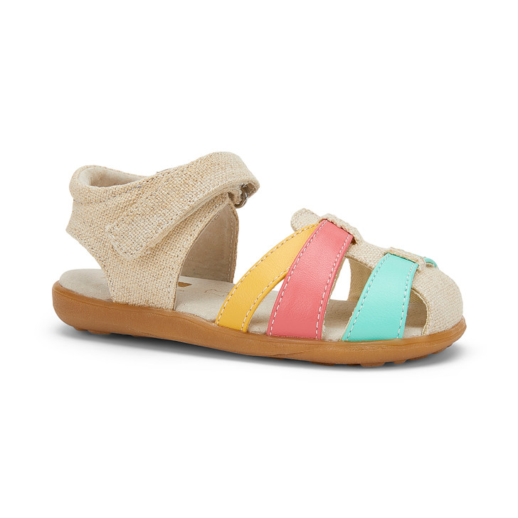 Front-Right Side view of Kaisa Linen sandal