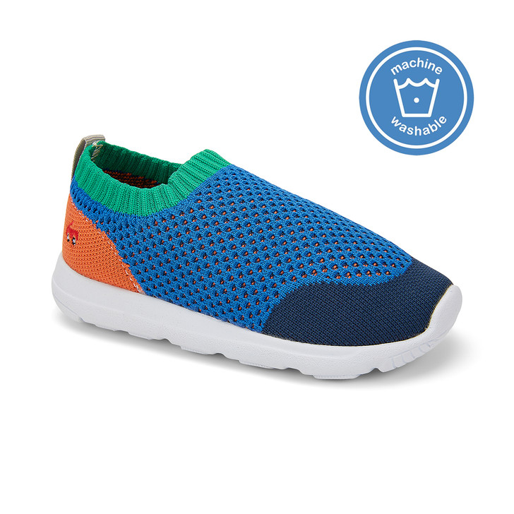 Front-Right Side view of the Ryder Knit FlexiRun™ Blue/Multi shoe