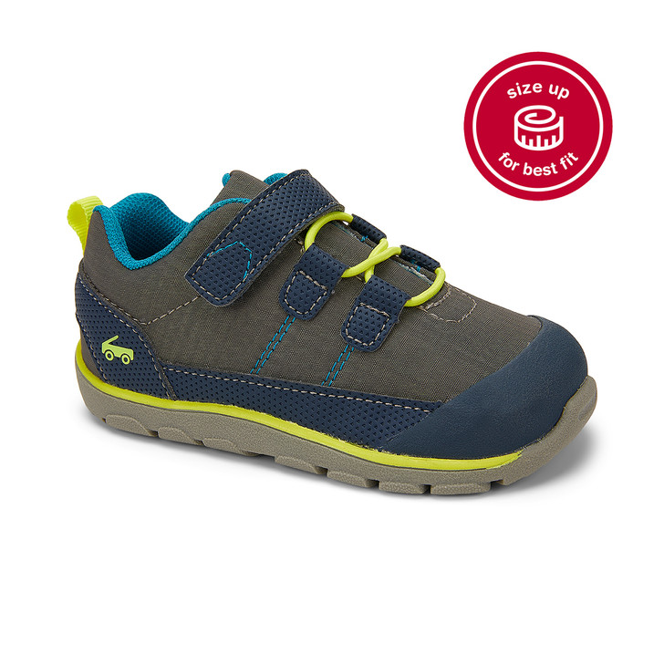 Front-Right Side view of the Summit Gray/Navy shoe