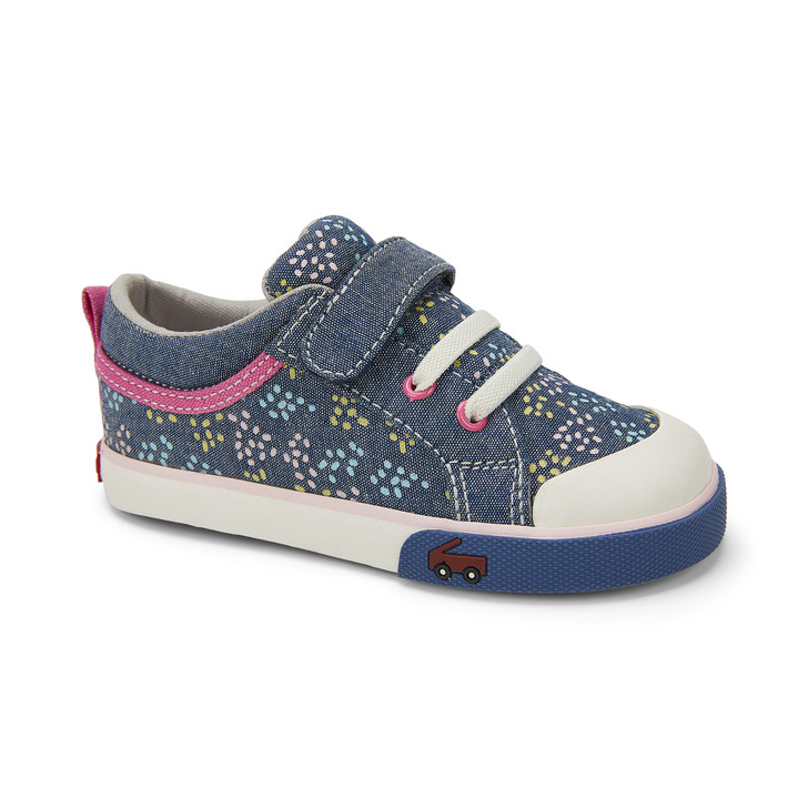 Front-Right Side view of the Kristin Chambray/Sprinkles shoe