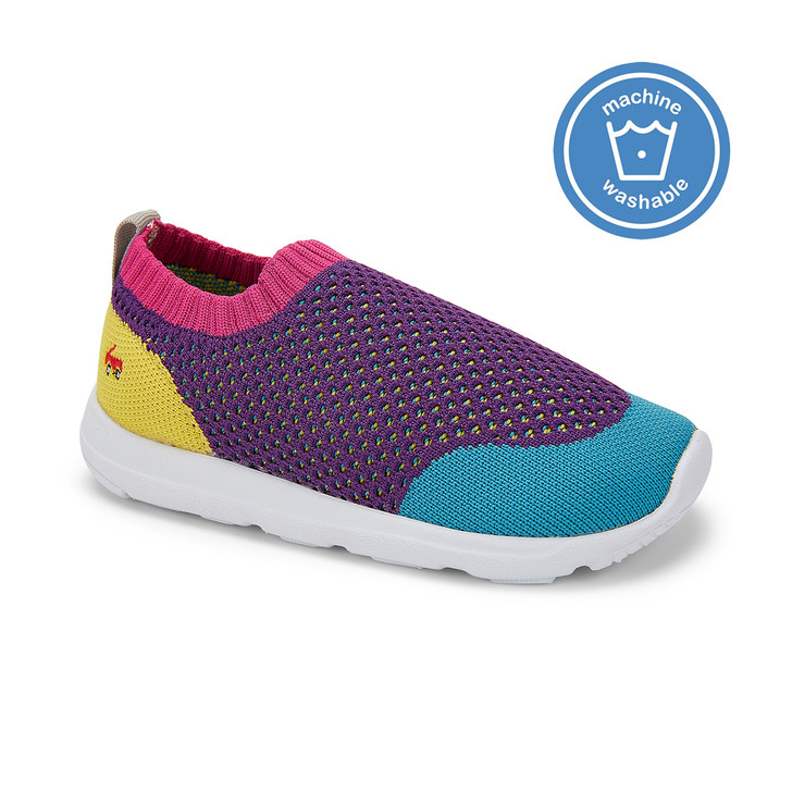 Front-Right Side view of the Ryder Knit FlexiRun™ Purple/Multi shoe