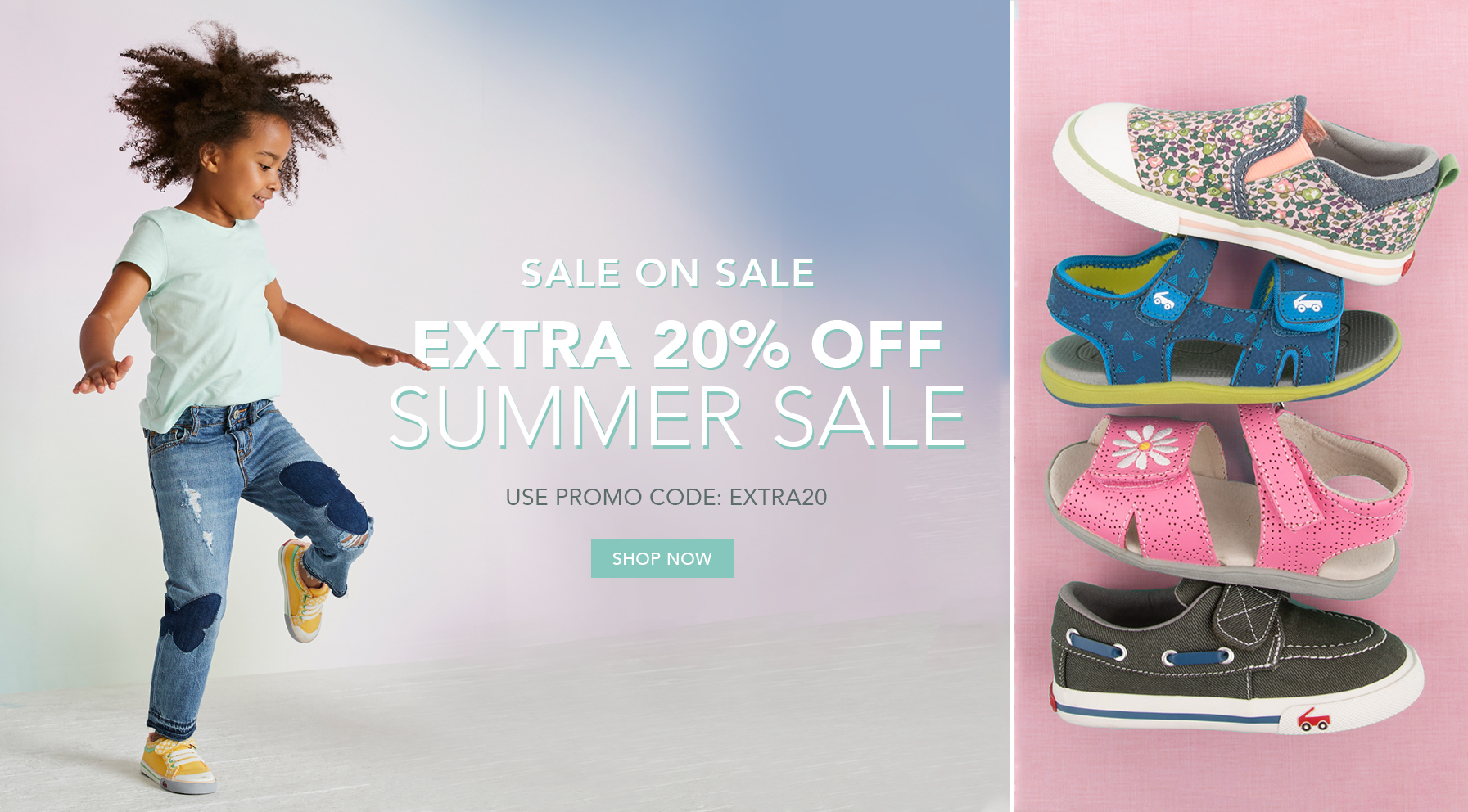Sale on sale. Extra 20% off summer sale. Use promo code: EXTRA20. Shop Now