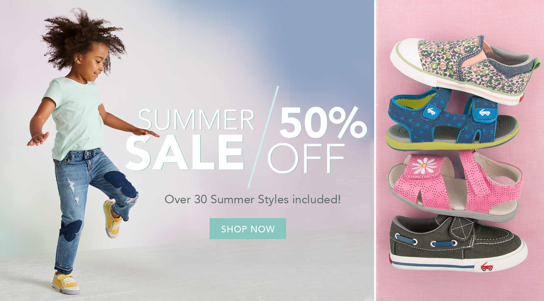 Summer sale 50% off. Over 30 Summer styles included! Shop Now