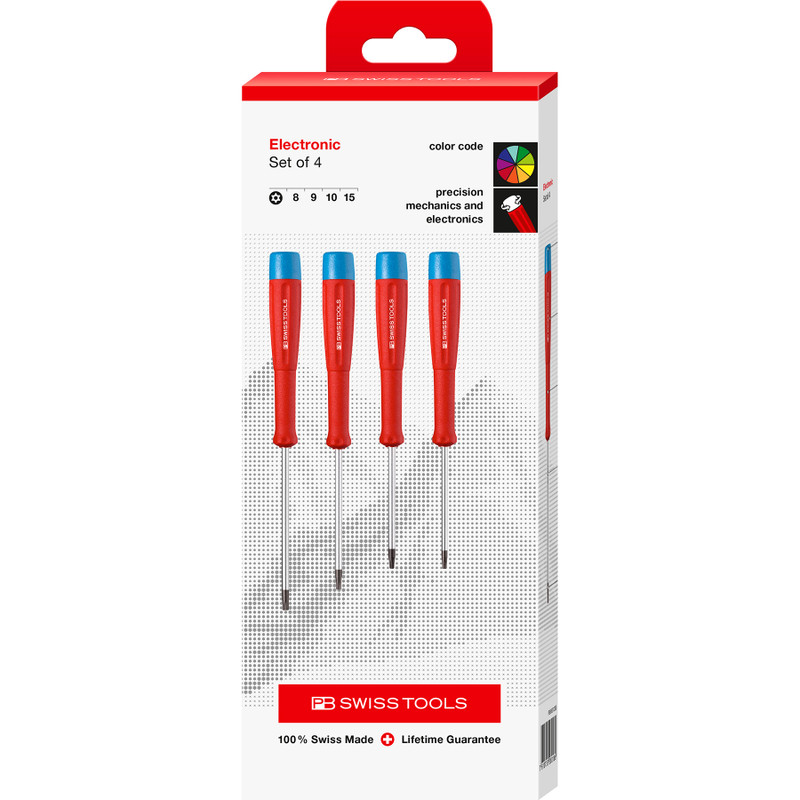 PB Swiss SwissGrip Torx® Precision Screwdriver Set, 4 pcs (PB 8627)