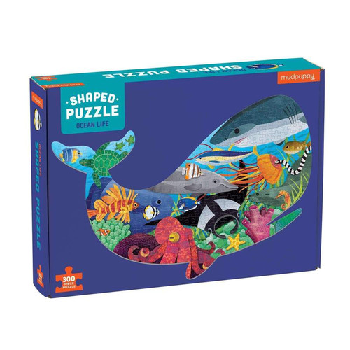 300 Piece Shaped Puzzle Ocean Life