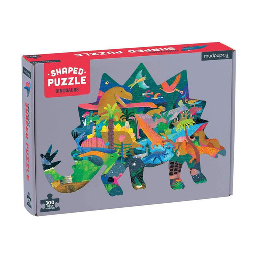 300 Piece Shaped Puzzle Dinosaurs