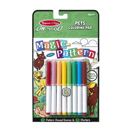 On The Go Magic-Pattern Coloring Pad Pets