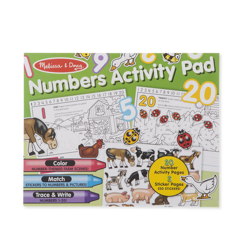 Activity Pad Numbers