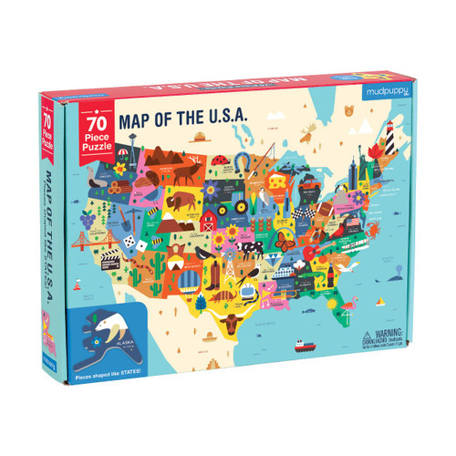 70 Piece Puzzle Map of The USA