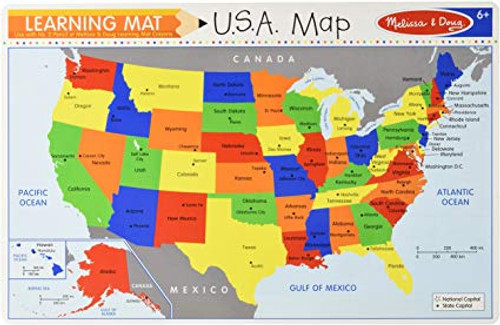 Learning Mat USA Map