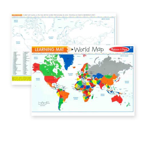 Learning Mat World Map