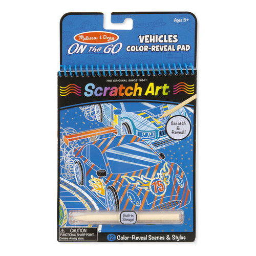 On The Go Scratch Art Vehicles