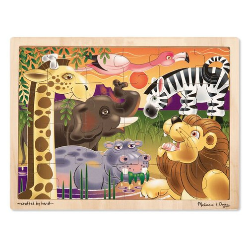 24-Piece Wooden Jigsaw Puzzle African Plains