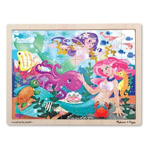 48-Piece Wooden Jigsaw Puzzle Mermaid Fantasea