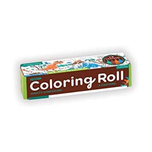 Mini Coloring Roll Mighty Dinosaurs
