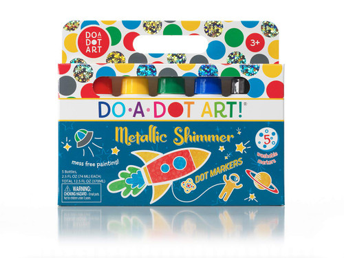 Metallic Shimmer Dot Markers 5-Pack