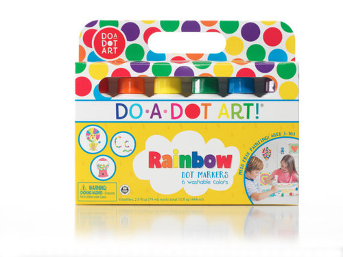 Rainbow Dot Markers 6-Pack