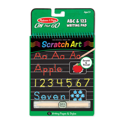 On the Go Scratch Art ABC & 123 Writing Pad