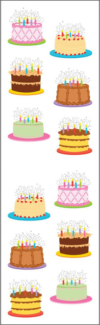 Large Birthday Cake Stickers