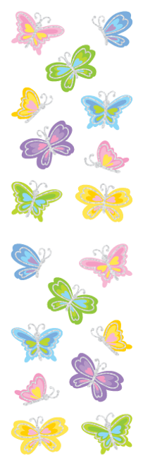 Shimmer Butterfly Stickers