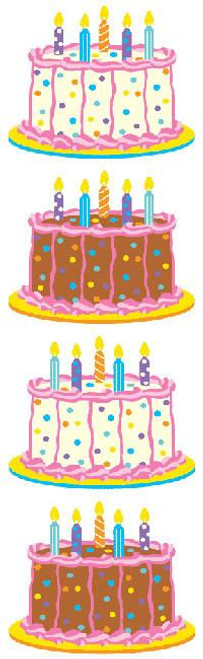 Small Birthday Cake Stickers