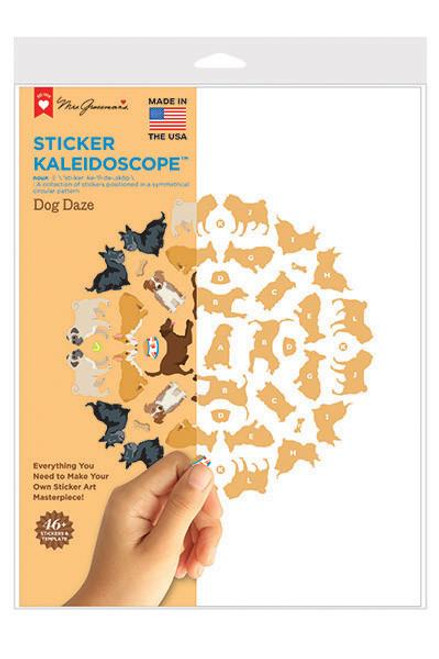 Sticker Kaleidoscope Dog Daze