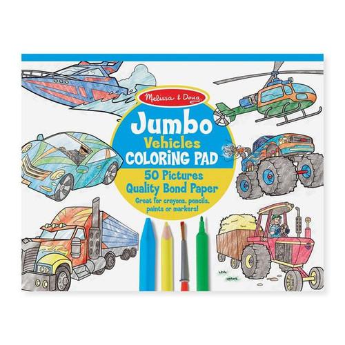 Jumbo Coloring Pad Vehicles