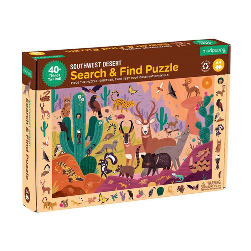Search and Find Puzzle Southwest Desert
