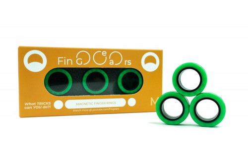 Fingears Green- Black Med.