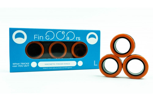 Fingears Orange-Black Lg.