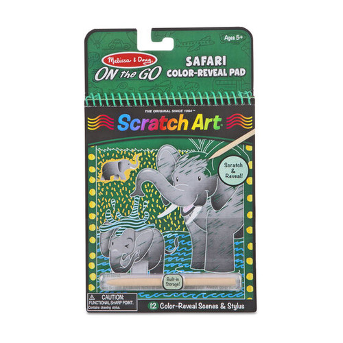 On the Go Scratch Art Safari Animals