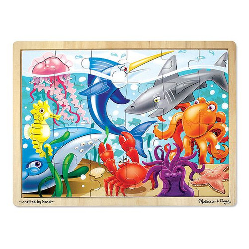 24 Piece Wooden Jigsaw Puzzle Under The Sea