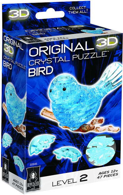 3-D Crystal Puzzle Blue Bird