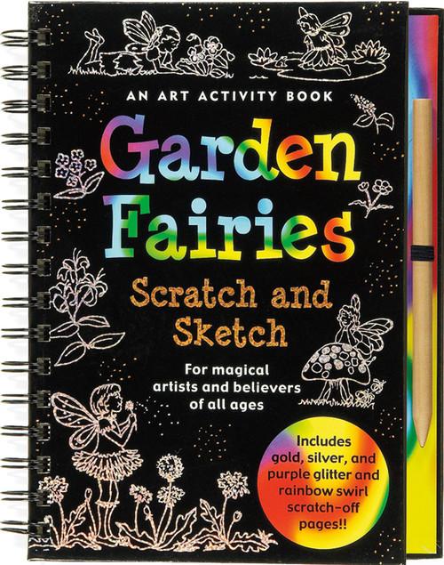 Scratch and Sketch Garden Fairies