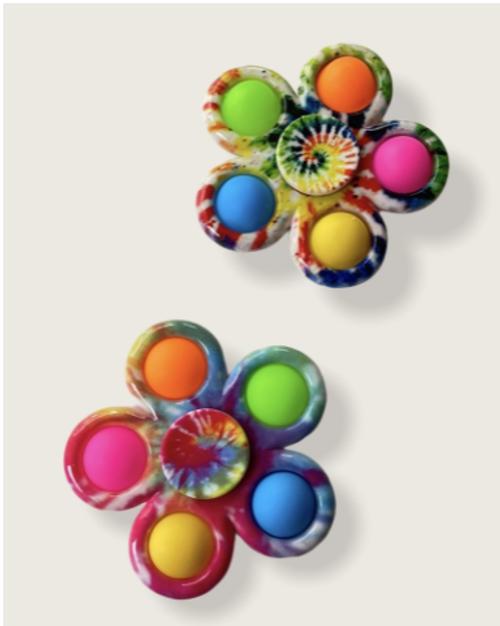 Tie Dye Snap Spinners