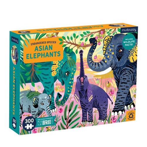 300 Piece Asian Elephants