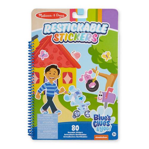 Blue's Clues Restickable Stickers Places Blue Loves