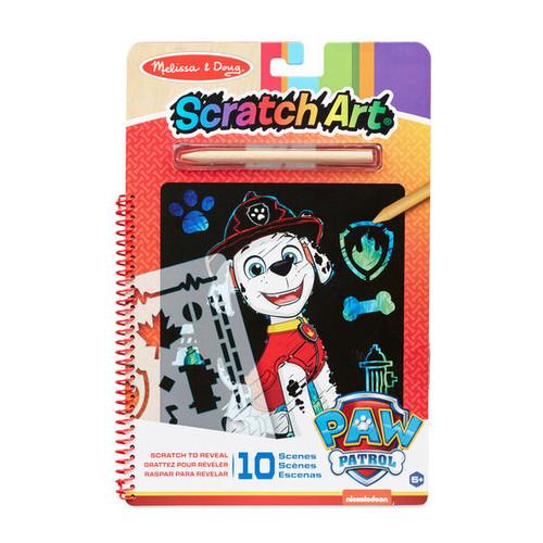 Paw Patrol Scratch Art Marshall