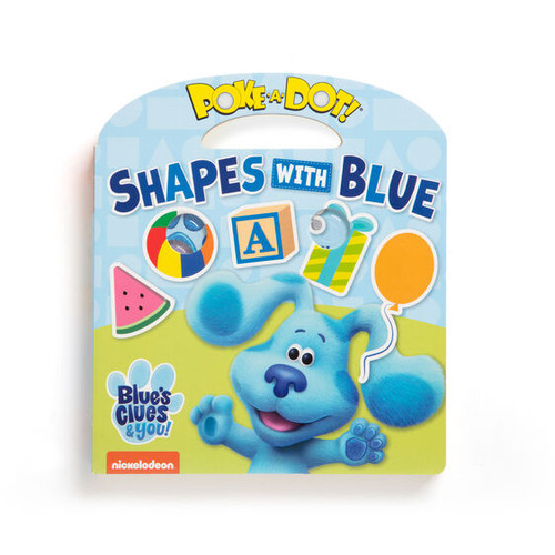 Poke-a-Dot Shapes with Blue