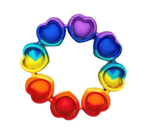 Rainbow Heart Bangle