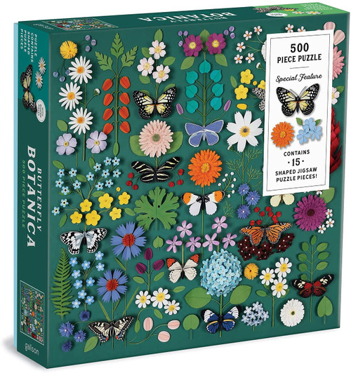 500 Piece Puzzle Butterfly Botanica