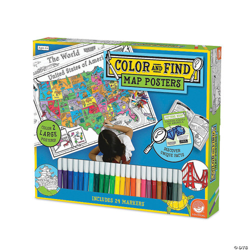 Color and Find Map Posters