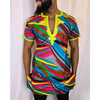 The Unisex colored Embroidery Long Shirt